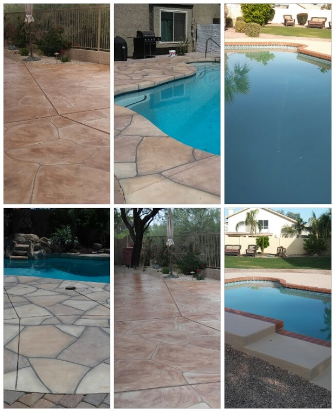 Pool deck resurfacing concrete coatings and repairs for Pool resurfacing phoenix az
