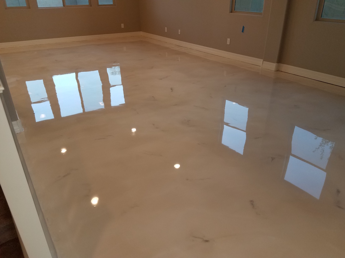 Epoxy Is A Adhesive Paint That Is Made Up Of Synthetic Thermosetting Resin  And Polyamine Hardener. It Protects Floors From Staining And Other Damages.