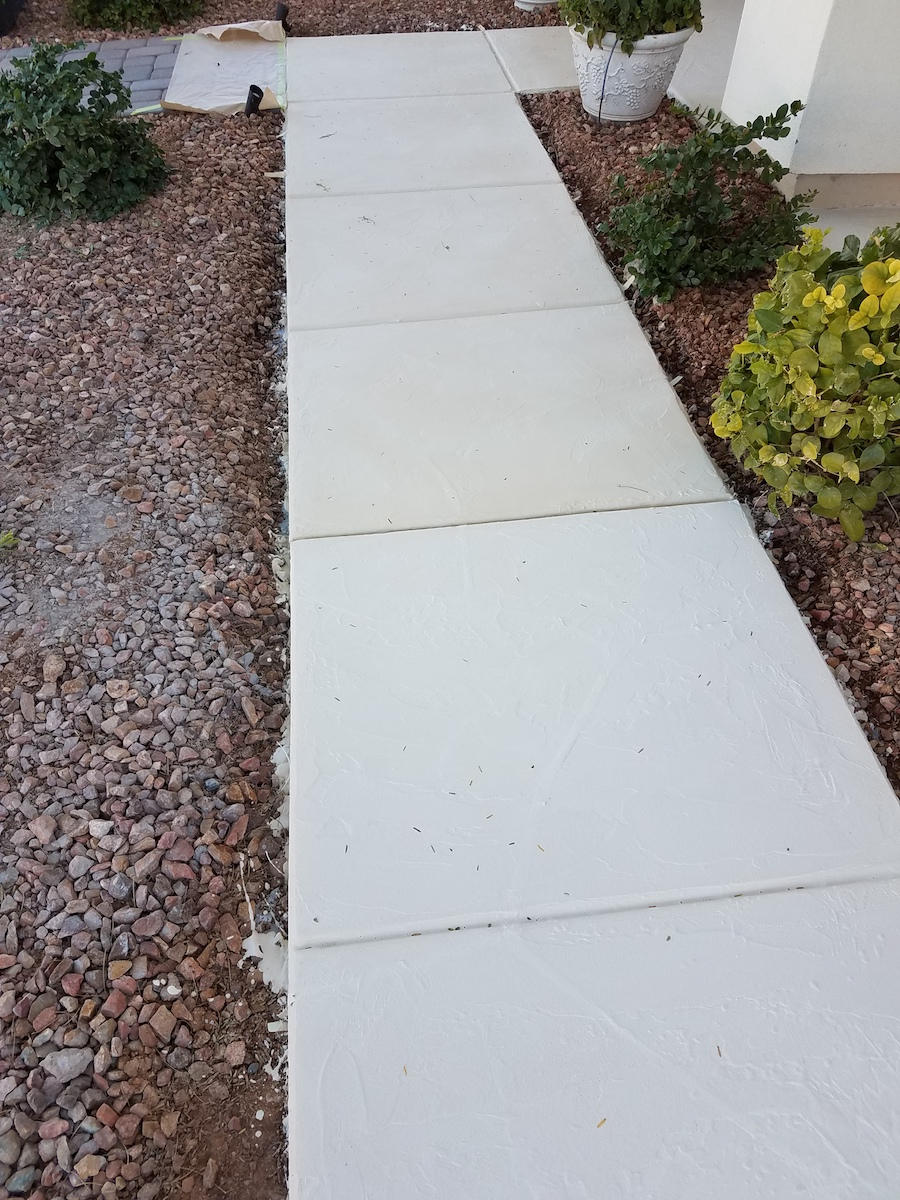 Before-faux-flagstone